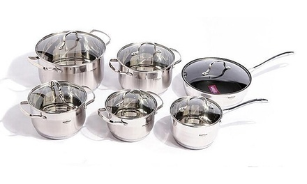 Stainless Steel Pot 12-Piece Set