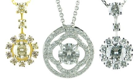 Diamond Pendants and Earrings