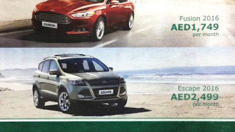 Rent 2016 Ford Special Offer