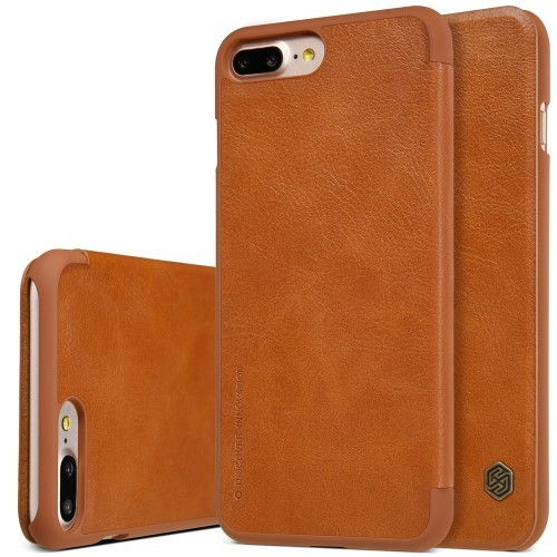 Nillkin Apple iPhone 7 Plus Qin Flip Leather Case Cover - Brown