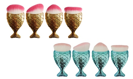 Mermaid Tail Make-Up Brush Set