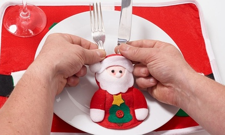 Santa Clause and Gingerbread Cutlery Holders