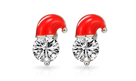 Santa Hat Earrings Set