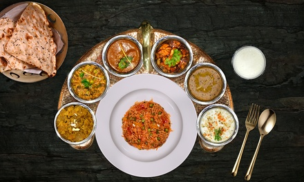 Traditional Indian Thali Lunch